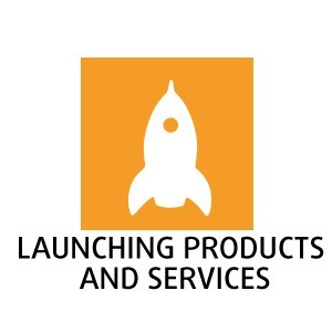 Launching products and services